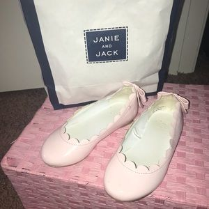 Other - Janie and jack little girls pink flats size 9